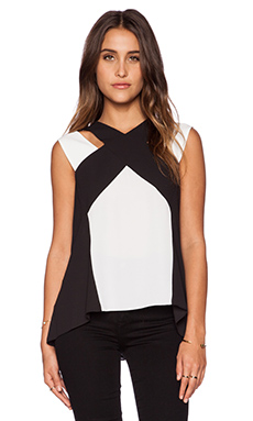 BCBGMAXAZRIA Sheli Top in Black Combo