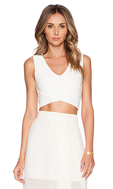 BCBGMAXAZRIA Janell Crop Top in Gardenia