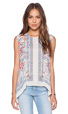 BCBGMAXAZRIA Calin Top in Gardenia Combo