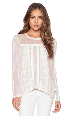 BCBGMAXAZRIA Addyson Top in Off White