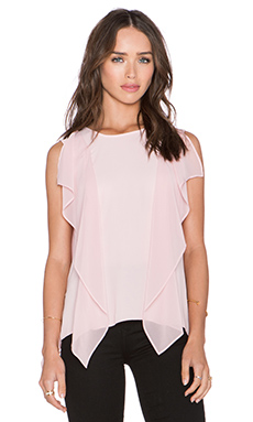 BCBGMAXAZRIA Ivorie Top in Whisper Pink