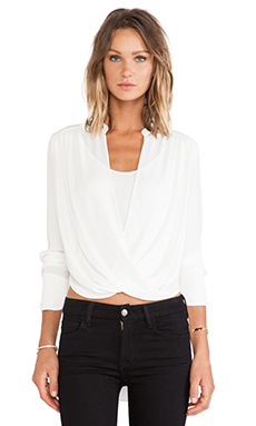 BCBGMAXAZRIA Top in Alabaster