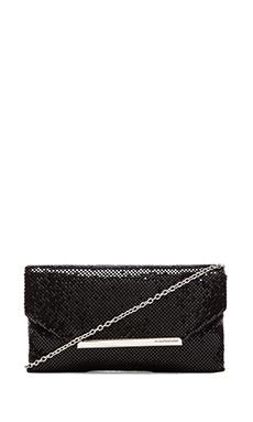 BCBGMAXAZRIA Bardot Metal Mesh Clutch in Black