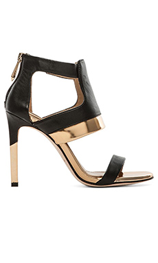 BCBGMAXAZRIA Jetts Heels in Black & Gold