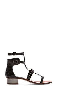 BCBGMAXAZRIA Cross Sandals in Black