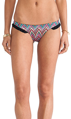 Beach Bunny Zig Zag Skimpy Bottom in Multi