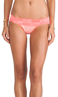 Beach Bunny Mystic Shine Lady Lace Bottom in Coral & Nude