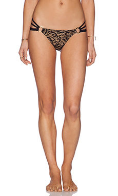 Beach Bunny Gunpowder & Lace Skimpy Bikini Bottom in Black Lace