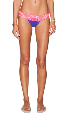 Beach Bunny Shimmer Prism Bikini Bottom in Sapphire & Pink