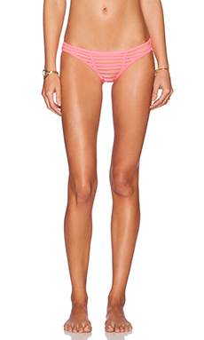 Beach Bunny Hard Summer Bikini Bottom in Hot Pink