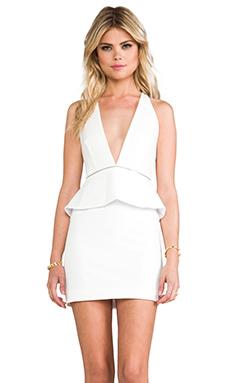 BEC&BRIDGE Light Ceramic Peplum Dress in White