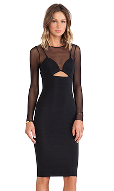 BEC&BRIDGE Love in Vain Long Sleeve Dress in Black