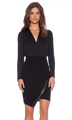 BEC&BRIDGE Ride or Die Long Sleeve Dress in Black