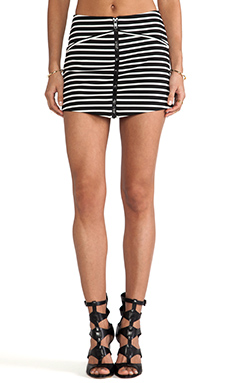 BEC&BRIDGE Elements Skirt in Black Stripe