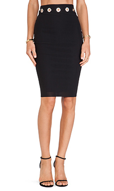 BEC&BRIDGE Highway Rebel Pencil Skirt in Black