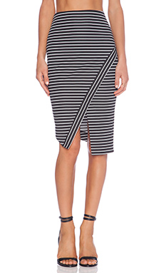 BEC&BRIDGE Wanderer Skirt in Black Stripe