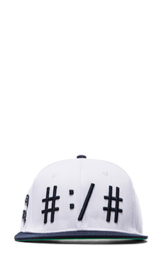 Been Trill Been Troll Eh Hat in White and Navy
