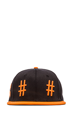 Been Trill Team Hat in Black and Orange