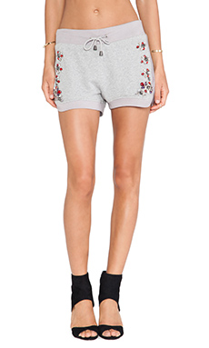 Benedita Crystal Sweatshort in Light Grey