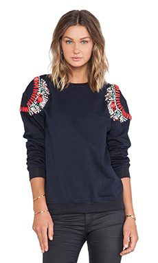 HEMANT AND NANDITA Crystal Sweatshirt in Navy