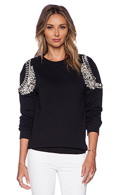 HEMANT AND NANDITA Crystal Sweatshirt in Black & Diamond