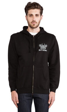 Best Wishes This Is The Fuckin Life Hoodie in Black