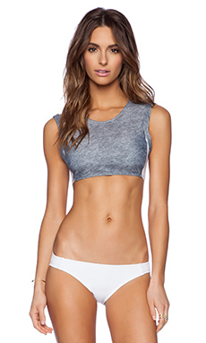 Beth Richards Elle Bikini Top in Grey Heather