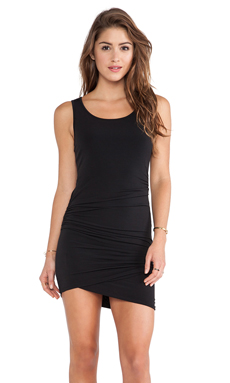 BCBGeneration Shirred Tank Dress in Black