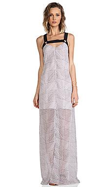 BCBGeneration Maxi Trim Dress in Pearl Haze Multi