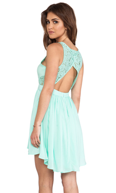 BCBGeneration Open Back High Low Dress in Oceanic