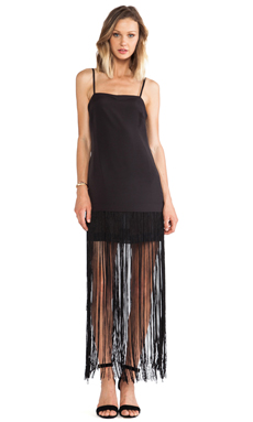 BCBGeneration Fringe Maxi Dress in Black