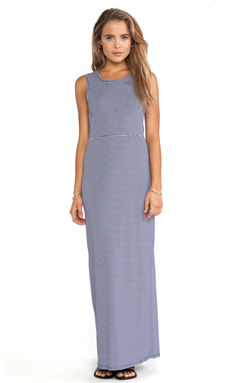 BCBGeneration Striped Maxi Dress in Violet Combo