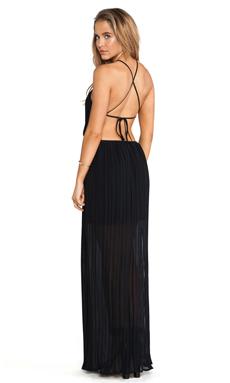 BCBGeneration Open Back Side Slit Maxi Gown in Black