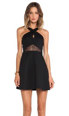 BCBGeneration Fit & Flare Keyhole Dress in Black