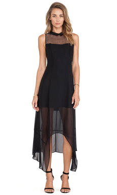 BCBGeneration Asymmetric Hem Dress in Black