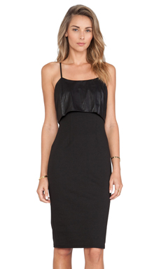 BCBGeneration Cross Back Dress in Black