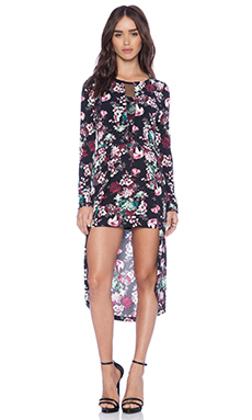 BCBGeneration Hi Low Hem Dress in Multi