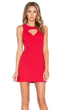 BCBGeneration Front Cut Out Dress in Rouge