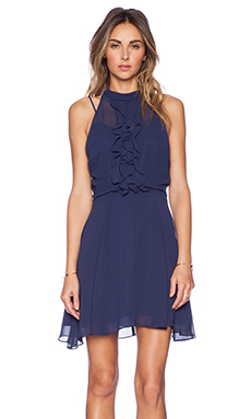 BCBGeneration Ruffle Front Dress in Eclipse Blue