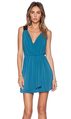 BCBGeneration Wrap Dress in Blue Lagoon