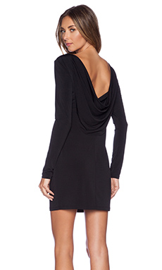 BCBGeneration Cowl Back Mini Dress in Black
