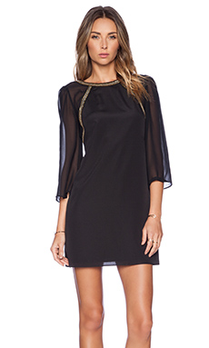 BCBGeneration Flutter Sleeve Shift Dress in Black