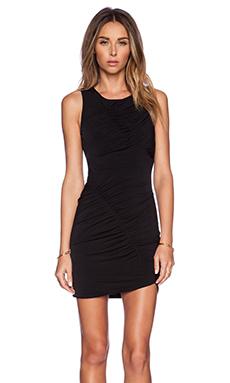 BCBGeneration Shirred Front Dress in Black