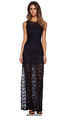 BCBGeneration Lace Maxi Dress in Black