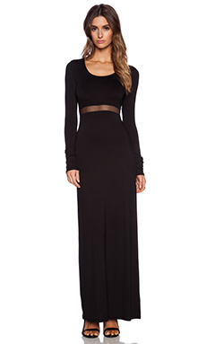 BCBGeneration Long Sleeve Maxi Dress in Black