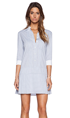 BCBGeneration Pleated Shirt Dress in Navy Combo