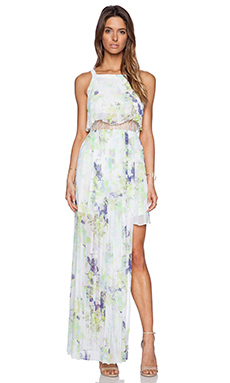 BCBGeneration Strappy Maxi Dress in Whisper White Multi