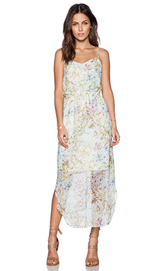 BCBGeneration Woven Cocktail Dress in Whisper White Multi