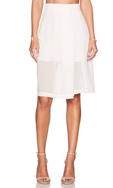 BCBGeneration Palazzo Short in Whisper White