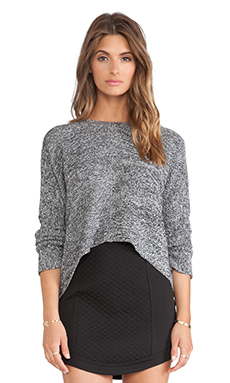 BCBGeneration Link Stitch Sweater in Marled Charcoal